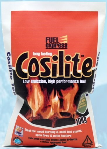 Fuel express 10kg cosilite for stoves, open fires and patio heaters
