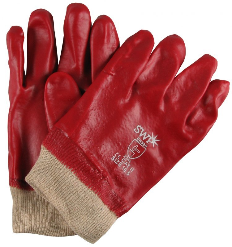 SWP Red PVC Gloves