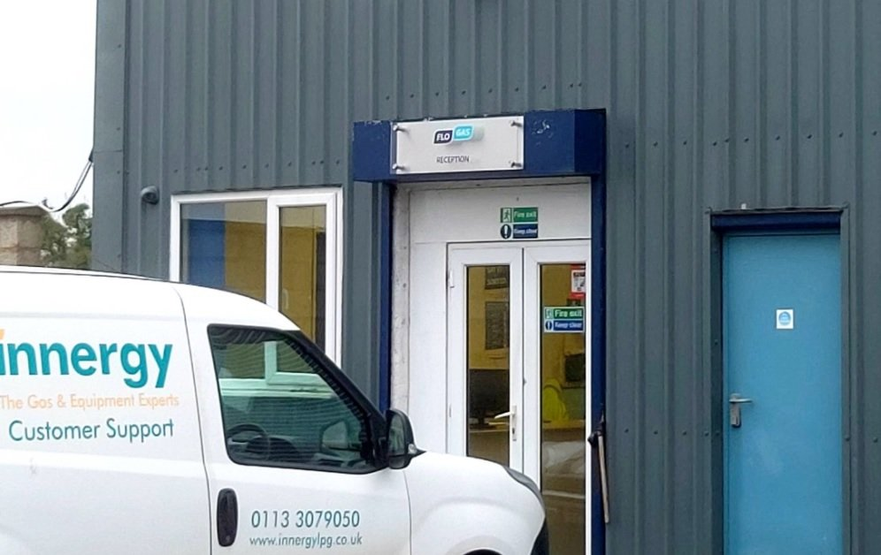 innergy York depot entrance and customer support vehicle