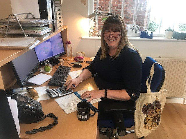 Our Finance & Administration Manager Keeley